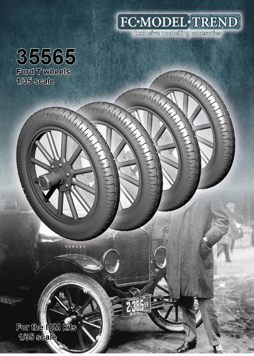 35565 Ford T wheels, 1/35 scale