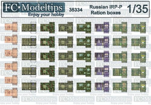 35334 Russian modern ration boxes IRP-P , 1/35 scale