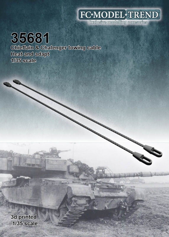 35681 Cable de arrastre para Chieftain y Challenger, escala 1/35