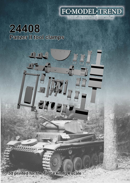 24409 panzer II tool clamps, 1/24 scale