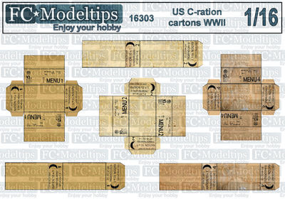 16303 US army C-ration boxes,WWII 1/16 scale