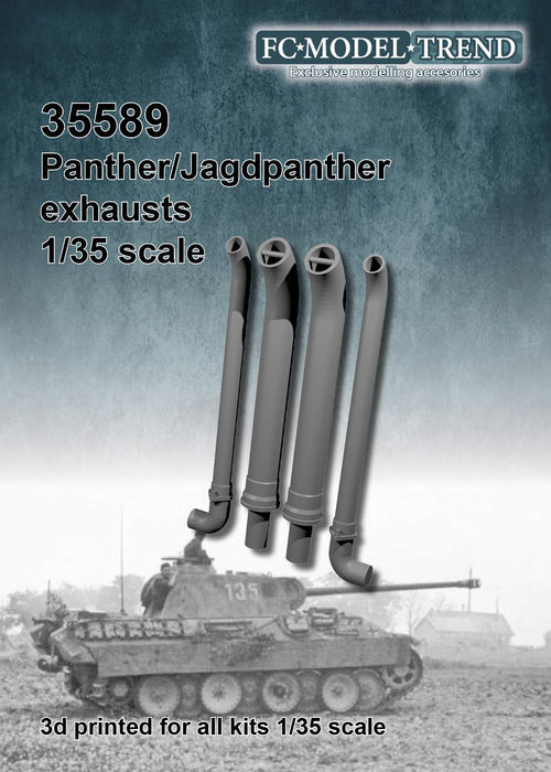 35589 Escapes para el tanque Panther, escala 1/35