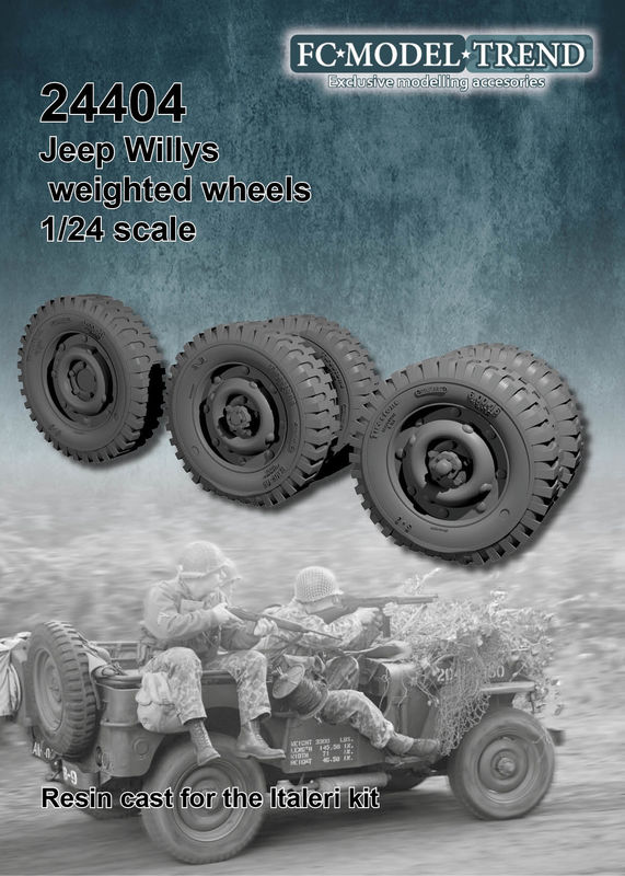 24404 Jeep weighted wheels, 1/24 scale