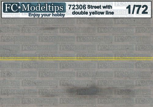 72306 Double yellow line base 1/72 scale