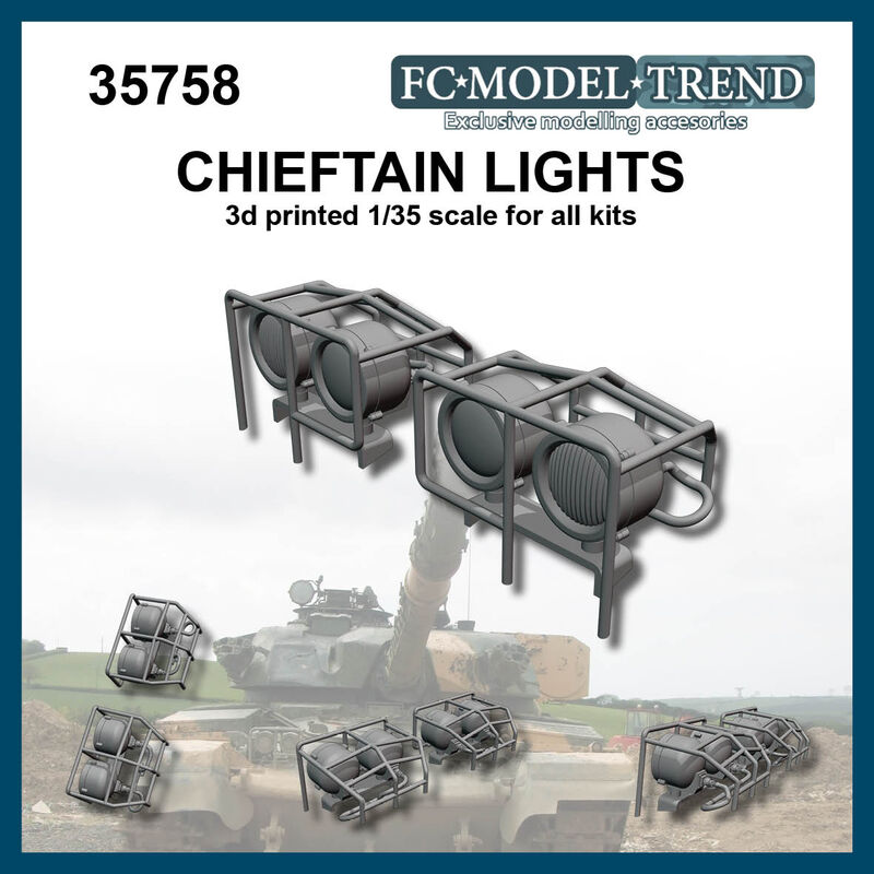 35758 Luces para Chieftain, escala 1/35