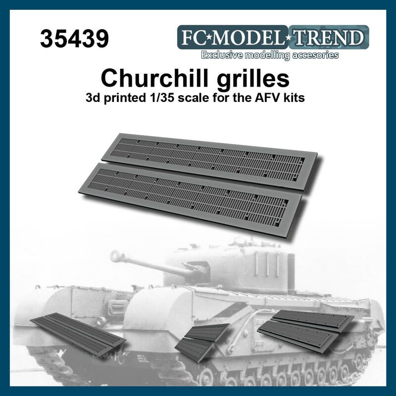 35439 Churchill mesh grilles, 1/35 scale