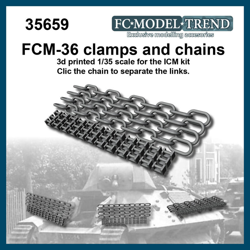 35659 FCM-36 clamps and chains, 1/35 scale