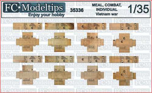 35336 Meal, Combat, Individual, US rations in Vietnam war, 1/35 scale