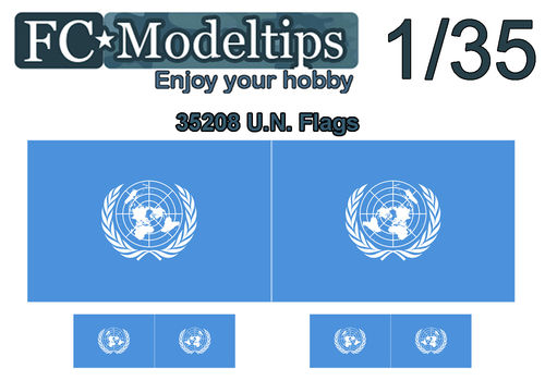 35208 Adaptable decal flag United nations