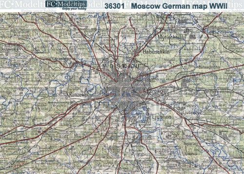 Moscow, German map