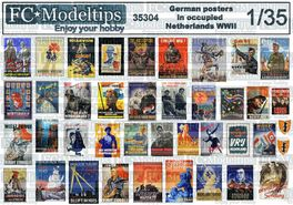 35304 German propaganda posters in occupied netherlands WWII 1/35 scale
