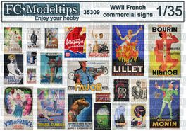 35309 WWII French commercial signs 1/35 scale