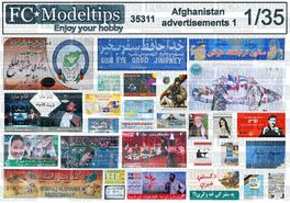 35311 Afghanistan posters and signs 1 1/35 scale