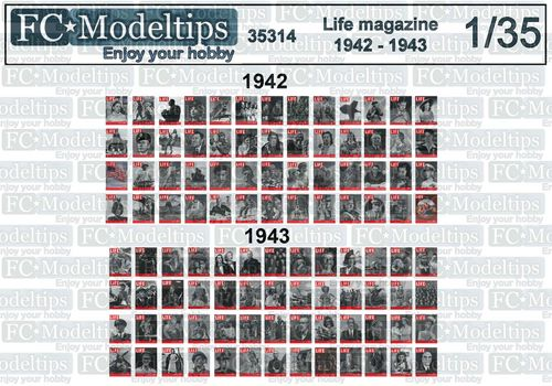 Revista Life 1941 - 1942 escala 1/35