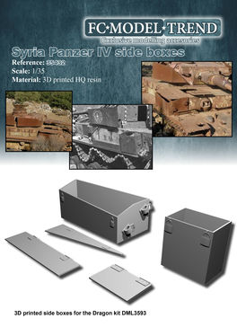 35432 Syria panzer IV side boxes 1/35 scale