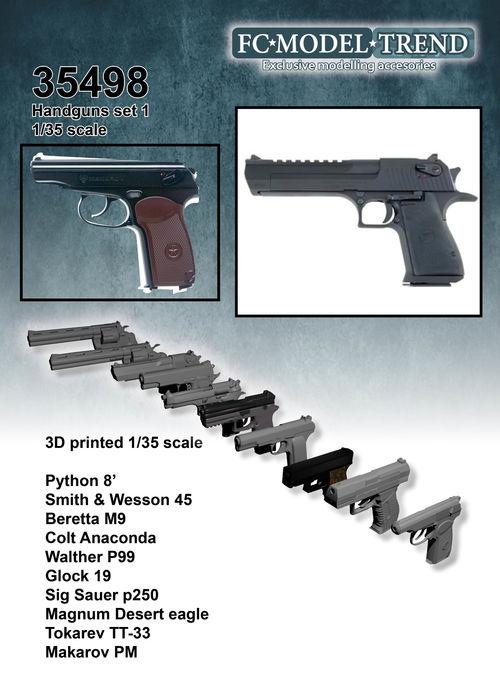 35498 hand guns, 1/35 scale