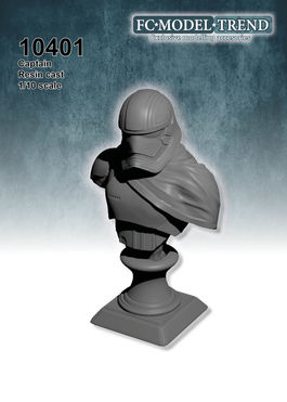 10401 Sci-fi captain, bust scale 1/10