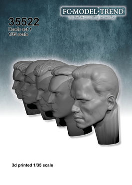 35522 Heads set 1, 1/35 scale