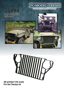 35494 Willys Jeep slats grille, 1/35 scale