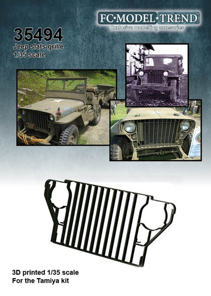 35494 Rejilla de barras para Jeep Willys, escala 1/35