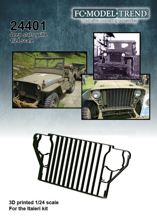 24401 Rejilla de barras para el Jeep Willys, escala 1/24