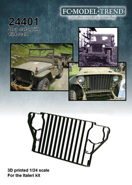 24401 Willys Jeep slats grille, 1/24 scale