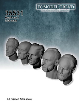 35531 heads 2, 1/35 scale