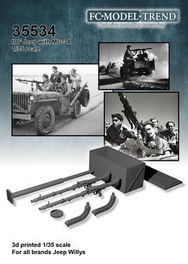 35534 IDF jeep con MG-34, escala 1/35