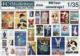 35326 French commercial posters WWII 2. 1/35 scale
