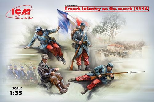 ICM35705 French infantry on the march 1/35 scale
