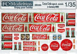 35330 Coca Cola signage, Germany WWII, 1/35 scale