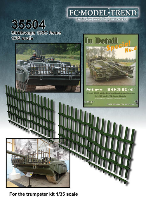 35504 Stridsvagn 103C bars grille, 1/35 scale
