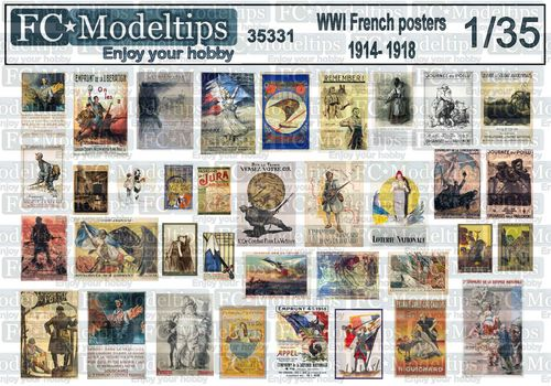 35331 French posters WWI 1914-1918, 1/35 scale