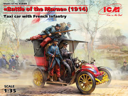 ICM35560 Taxi de la Marne with French infantry 1/35 scale