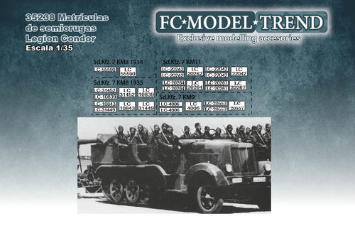 35238 Legion Condor halftracks license plates, 1/35 scale