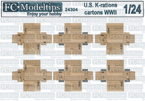 24304 K ration cartons, 1/24 scale